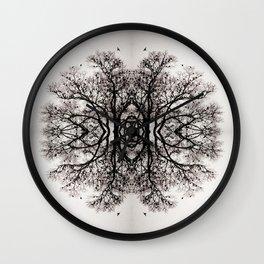 Winter Storm Ink Blot Wall Clock