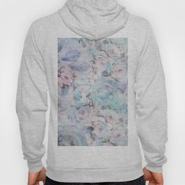 Shabby vintage pastel pink teal floral butterfly typography Hoody