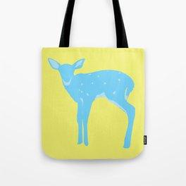 A deer - A Very Blue Deer Tote Bag