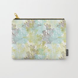 Green, Blue and Brown Tulips Pattern Carry-All Pouch