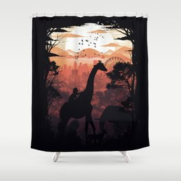 From City to Jungle Shower Curtain