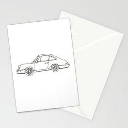 One-line Sportscar Stationery Cards
