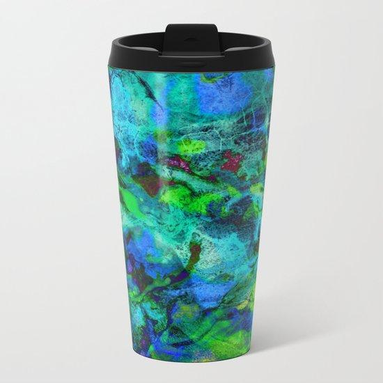 Sand Painting Metal Travel Mug