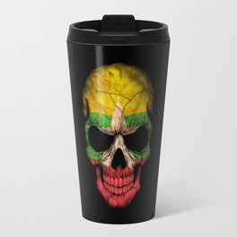 Dark Skull with Flag of Myanmar Travel Mug