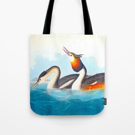 Great Crested Grebe Bird Tote Bag