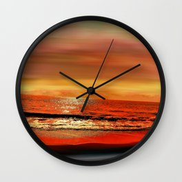Twilight Glow Seascape Wall Clock