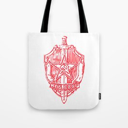KGB Badge Outline Drawing Tote Bag