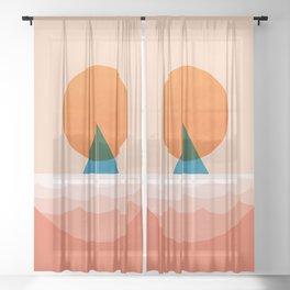 Abstraction_SUN_Sailing_Ocean_Minimalism_001 Sheer Curtain