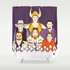 Around The Dude (Faces & Movies) Shower Curtain