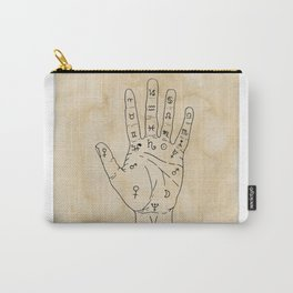 Palmistry Diagram - Palm Reading Chart - Palm Reading Guide Illustration Carry-All Pouch