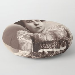 Maud Wagner Tattoo Photograph Floor Pillow