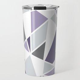 Geometric Pattern in purple and gray Travel Mug