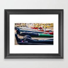 chars à voile, sport Framed Art Print