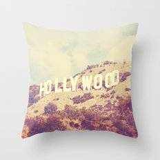 Sign. Hollywood photograph Throw Pillow