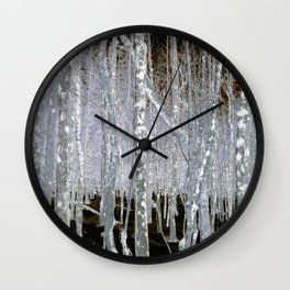 Winter Trees | Forest | Woods | Fantasy | Nadia Bonello | Canada Wall Clock