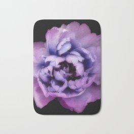 Indulgent Darkness, Violet Peony Bath Mat