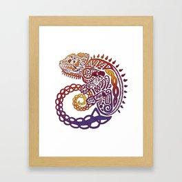 Celtic Chameleon Framed Art Print