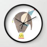 circus Wall Clocks featuring circus by agata krolak