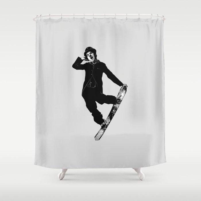 Gnarly Chaplin Shower Curtain