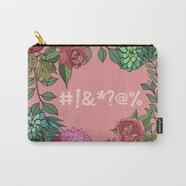 Pretty Bleeping Flowers Carry-All Pouch