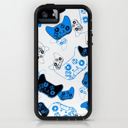 Video Game White and Blue iPhone Case
