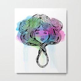 Star Child 1 Watercolor Metal Print