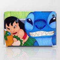 lilo and stitch iPad Cases featuring Lilo & Stitch Selfie by Olivia Iman
