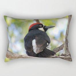 Acorn Woodpecker in Malibu Rectangular Pillow