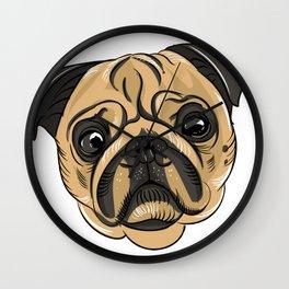 Pug Mans Best Friend Wall Clock