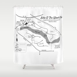 Lake O' The Woods Map O' The Grounds Shower Curtain