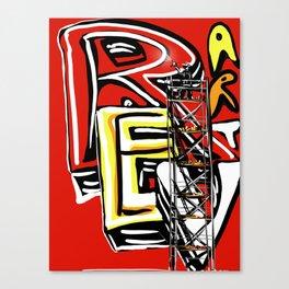 Graffiti scaffold !! Canvas Print
