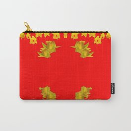 DECORATIVE RED YELLOW DAFFODILS ART Carry-All Pouch
