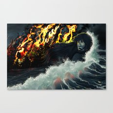 Running to the Sea Canvas Print
