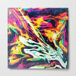 Fluid Abstract 34; Panic Metal Print