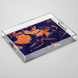 Abstract paint Art Acrylic Tray
