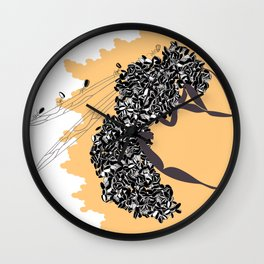 Seeds and the wasp Wall Clock