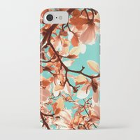 magnolia iPhone & iPod Cases featuring magnolia by blackpool