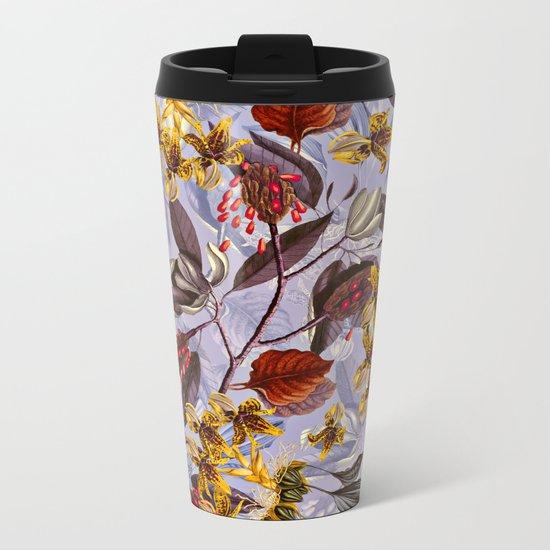 Floral Pattern II Metal Travel Mug