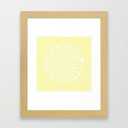 Chardonnay Love Symbol Mandala Framed Art Print