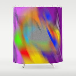 playing in sand with colours Shower Curtain