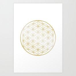 Flower Of Life, Wall Art Print, Living Room, Bedroom,Wall Art, Canvas, Mandala Art Print