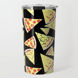 Fun Dynamic Random Pattern Pizza Lover Travel Mug