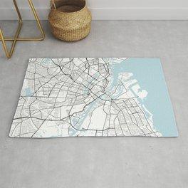 Copenhagen City Map of Denmark - Circle Rug