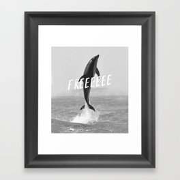 Free like a dolphin Framed Art Print