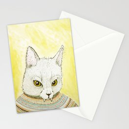 SWEATER AND ALSO CAT Stationery Cards