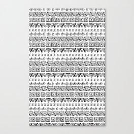 Black & White Hand Drawn Pattern Canvas Print
