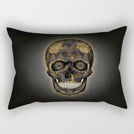 Skull Yellow   Tessellating Skulls Pattern   M. C. Escher Inspired Geometric Artwork by Tessellation Rectangular Pillow