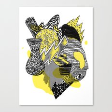 Vase on galaxies Canvas Print