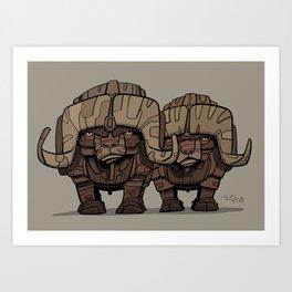 Buffaloes Art Print