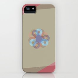 Spinner - Maroon iPhone Case